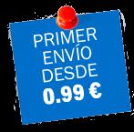 Primer envío desde 0.99€